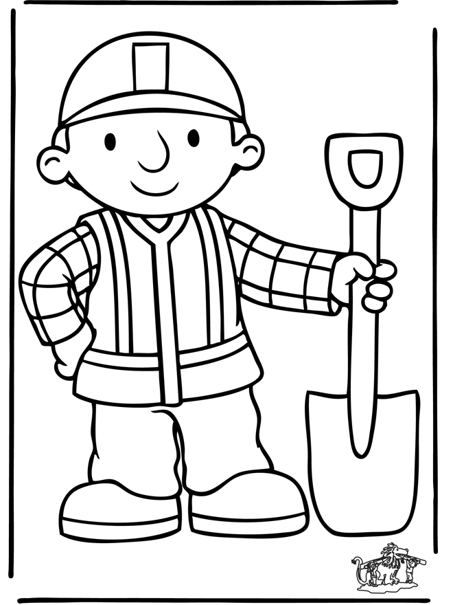 bulldozer coloring pages - bob der baumeister 5
