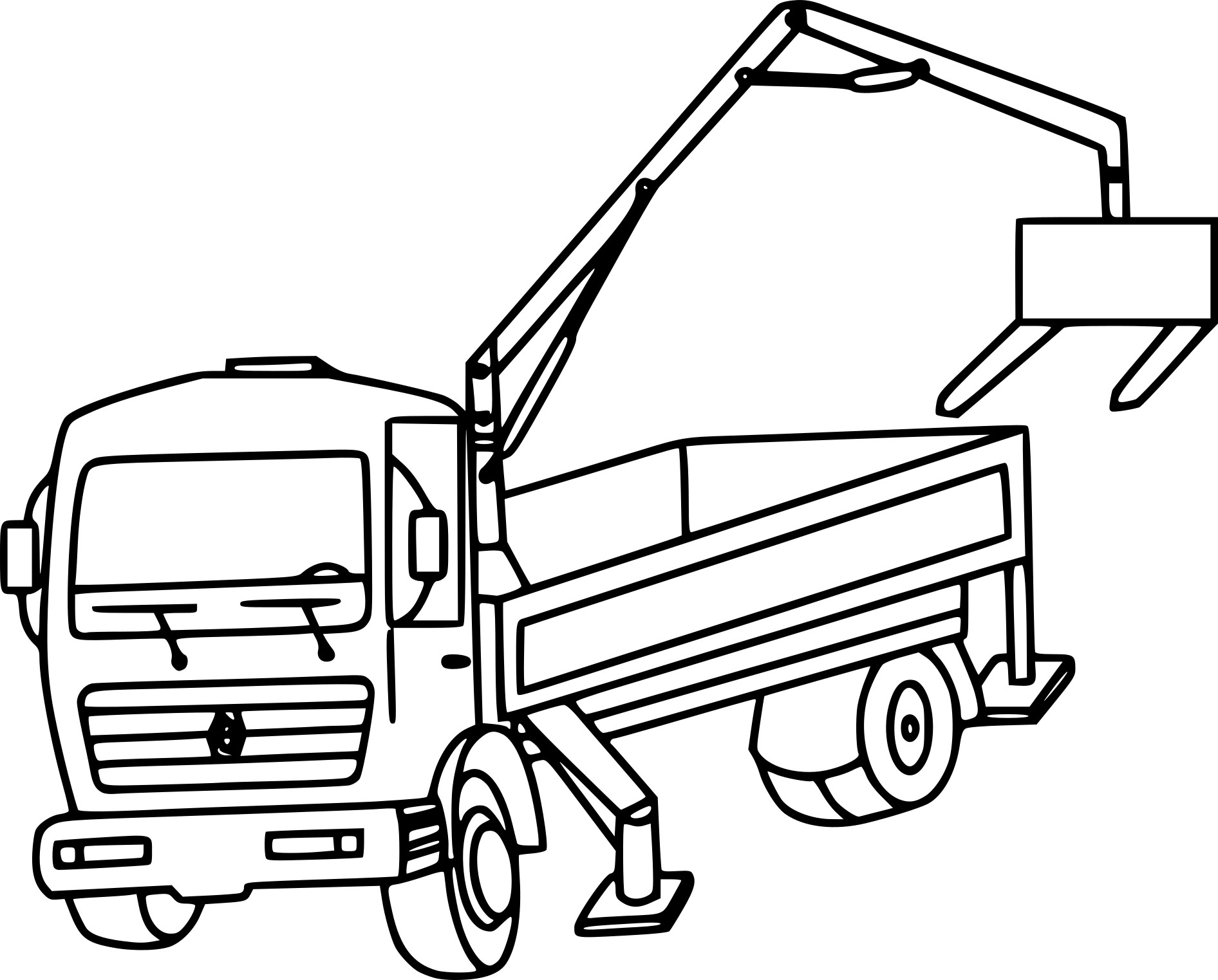 bulldozer coloring pages - coloriage camion grue