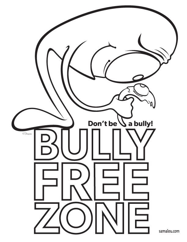 bullying coloring pages - anti bullying coloring pages