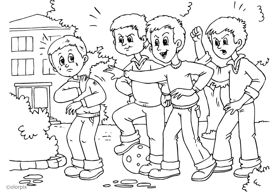 Bullying Coloring Pages - Anti Bullying Coloring Pages Intended for Your Home Cool