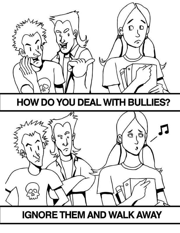 bullying coloring pages - q=on bullying for kids