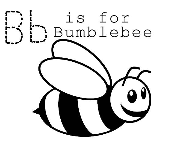 bumble bee coloring page - b is for bumble bee coloring pages