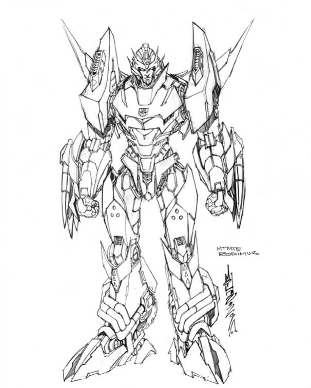bumblebee transformer coloring page - 3p rodimus prime please 3