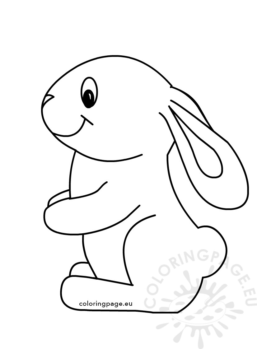 bunny coloring pages - easter cute bunny coloring kids