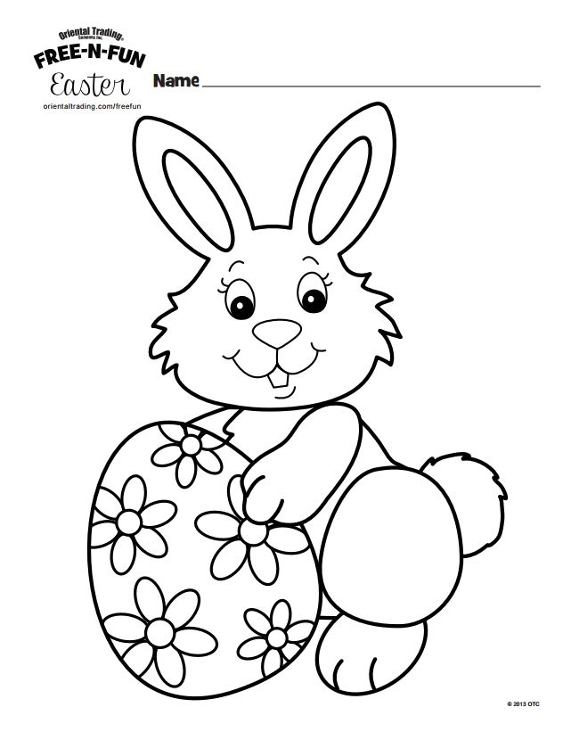 bunny coloring pages free - free easter bunny coloring pages