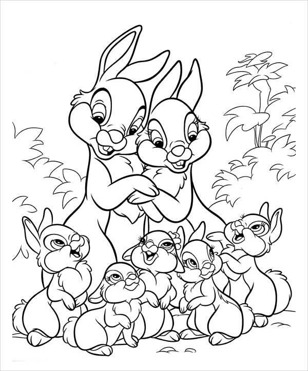 bunny coloring pages free - bunny coloring page