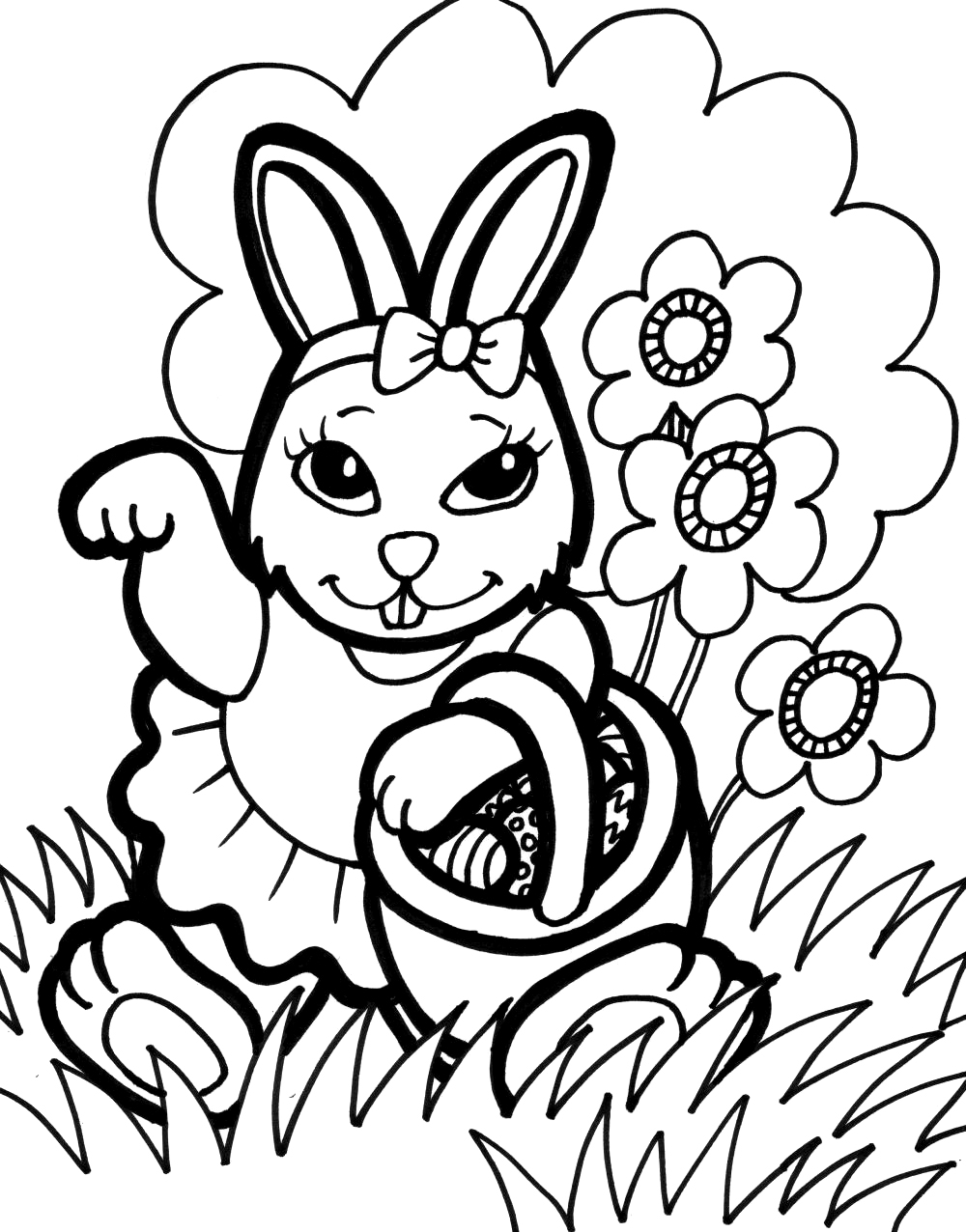 bunny coloring pages free - bunny coloring pages