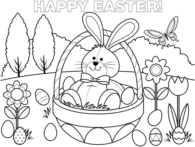 bunny coloring pages free - free printable coloring pages easter bunny