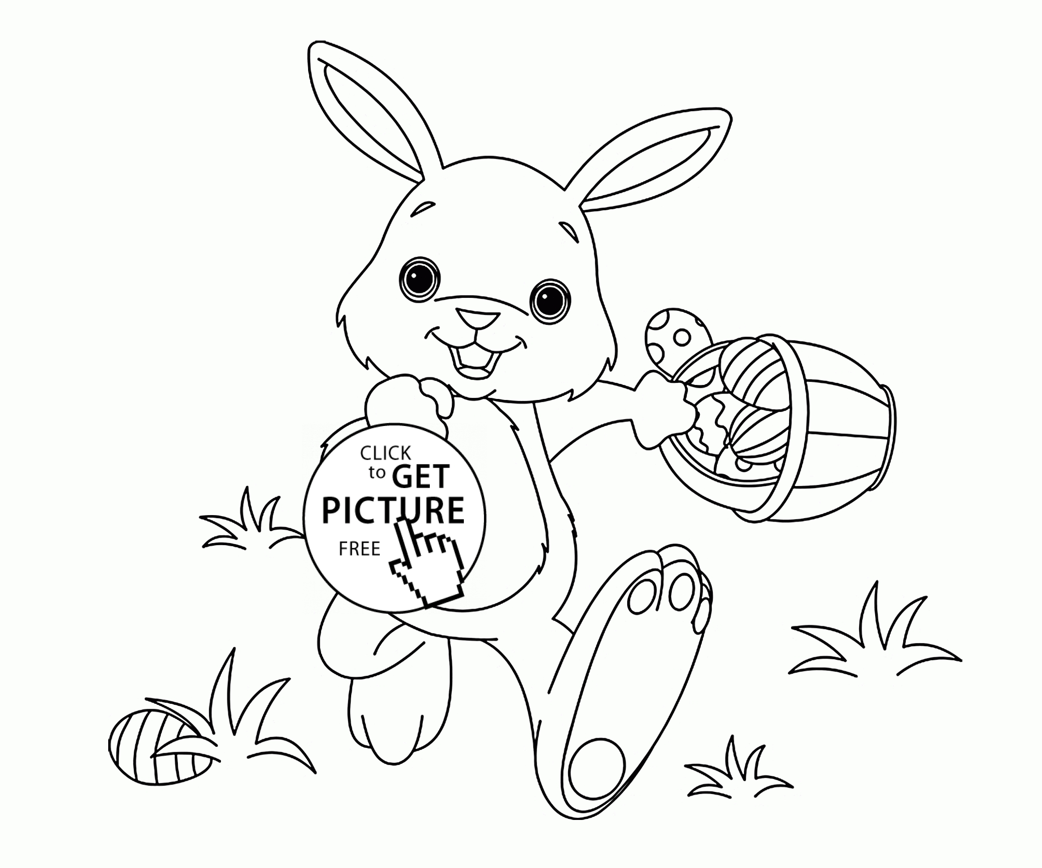 bunny coloring pages free - funny little easter bunny coloring page for kids coloring pages printables free