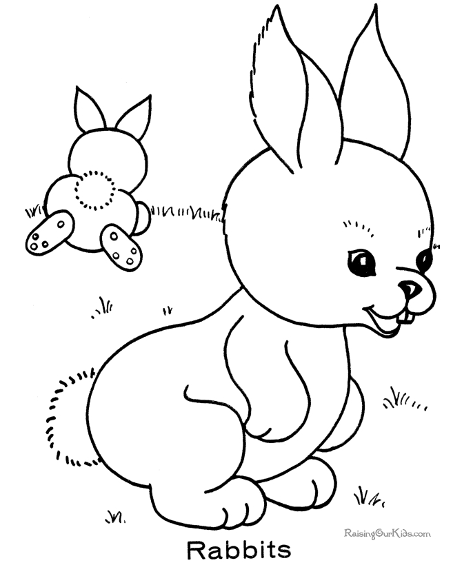 bunny coloring pages printable - 005 kindergarten coloring pages
