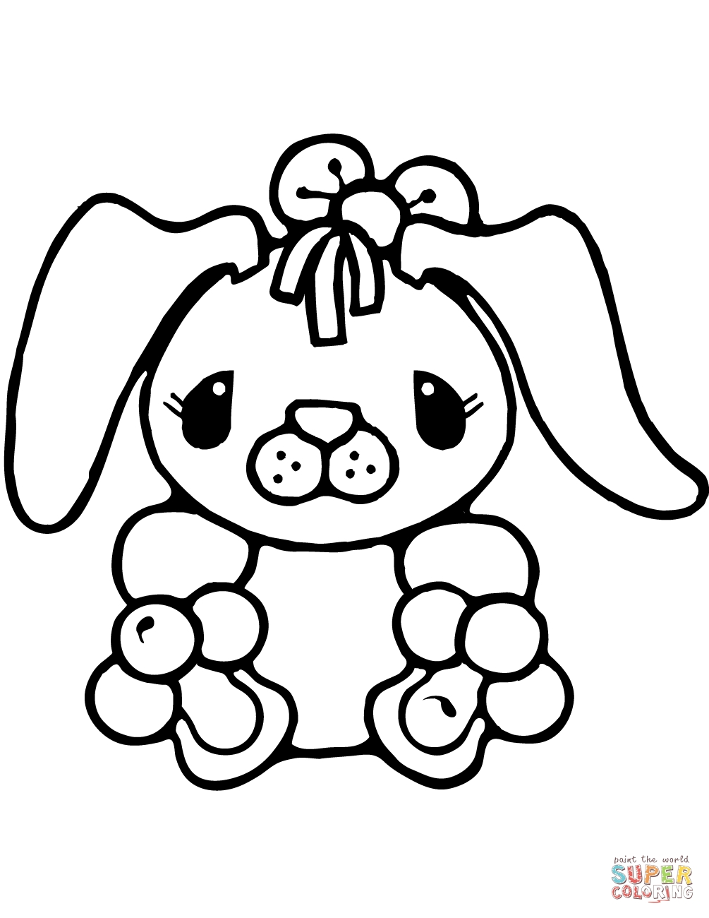 bunny rabbit coloring pages - tiny bunny rabbit