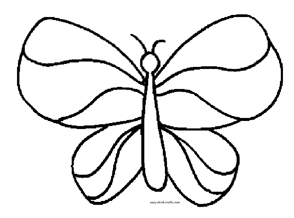 butterfly coloring pages - Butterfly Coloring Page