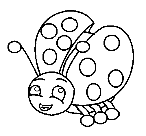 butterfly coloring pages for adults - best free ladybug coloring pages for kids 6064