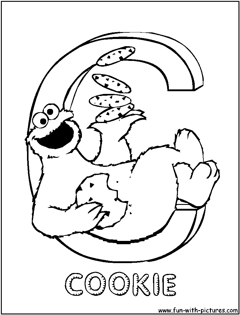 c coloring pages - sesamestreet c coloring page