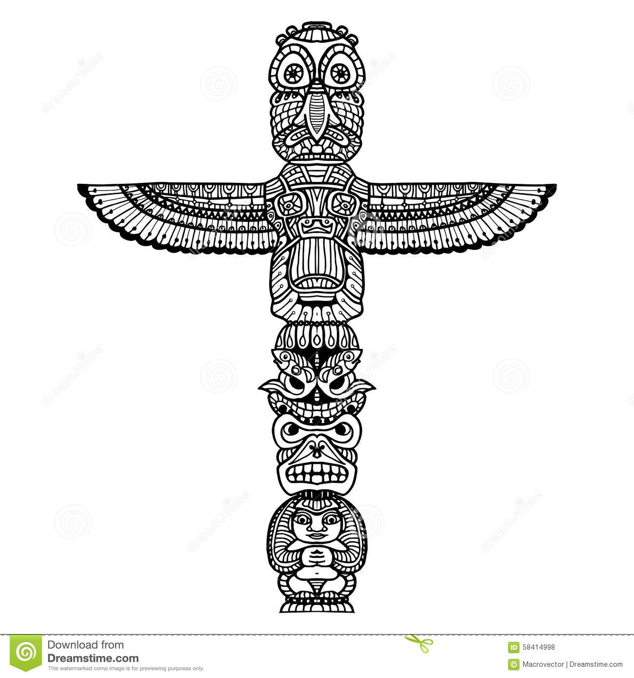 cactus coloring page - illustration stock illustration de totem de griffonnage image