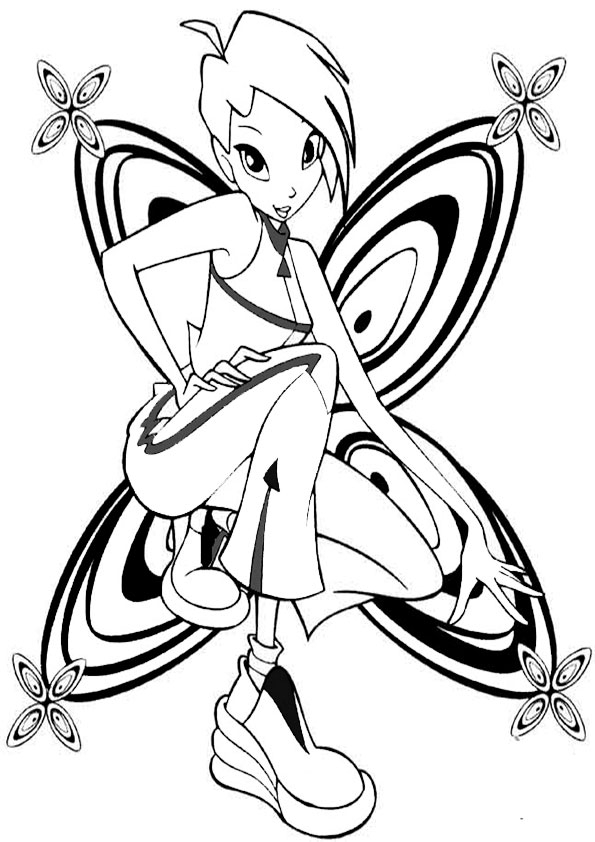 caillou coloring pages - winx 2
