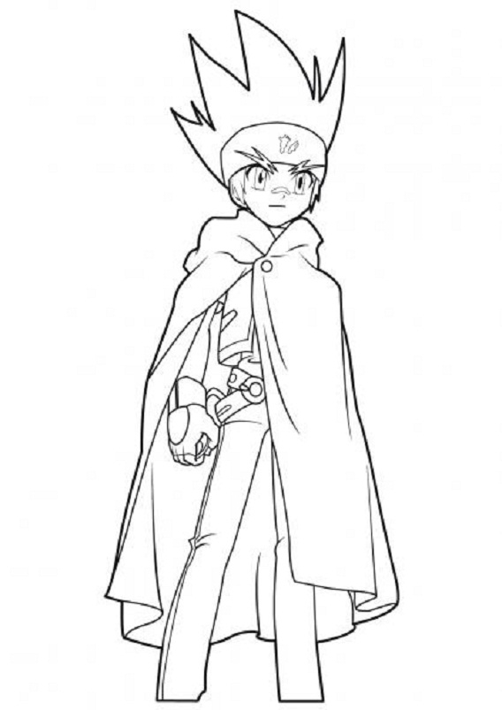 caillou coloring pages - beyblade 19