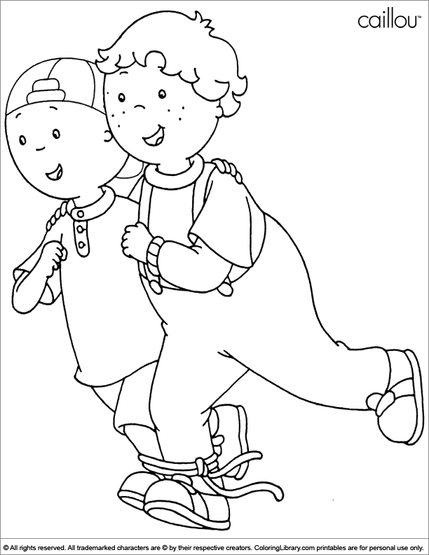 caillou coloring pages - page 1569