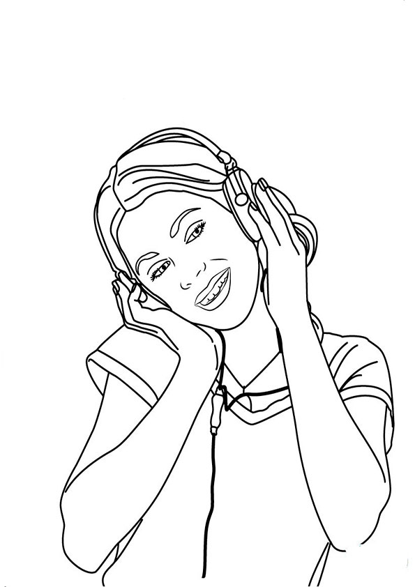 caillou coloring pages - violetta 21