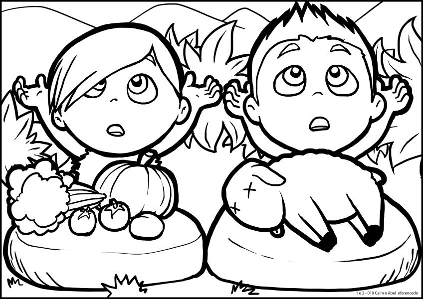cain and abel coloring page - cain and abel coloring pages