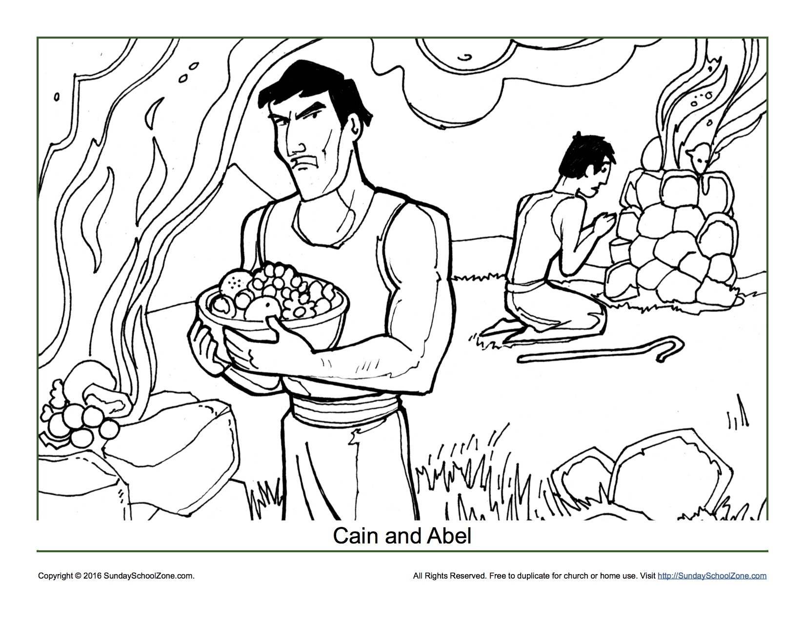 cain and abel coloring page - cain and abel coloring worksheet sketch templates