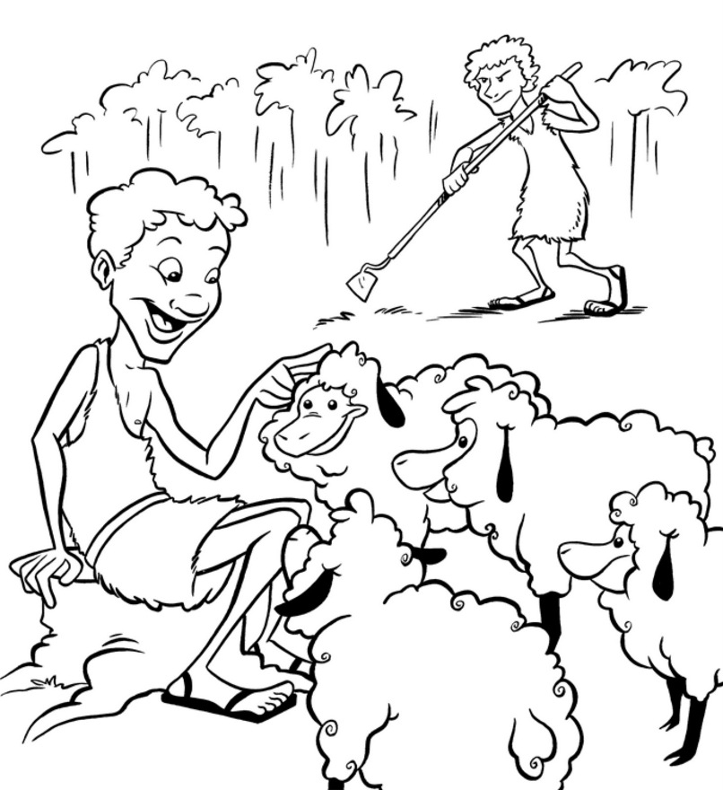 cain and abel coloring page - pictures of cain
