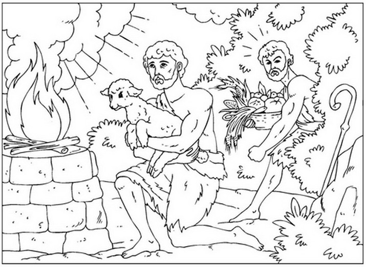 cain and abel coloring page - iconography of cain and abel