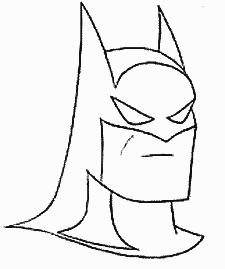 cake coloring pages - batman stencil for cake