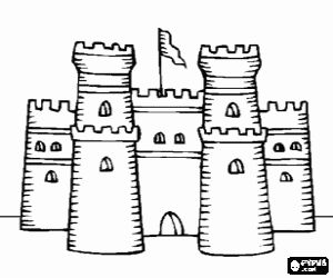 cake coloring pages - castelo para colorir