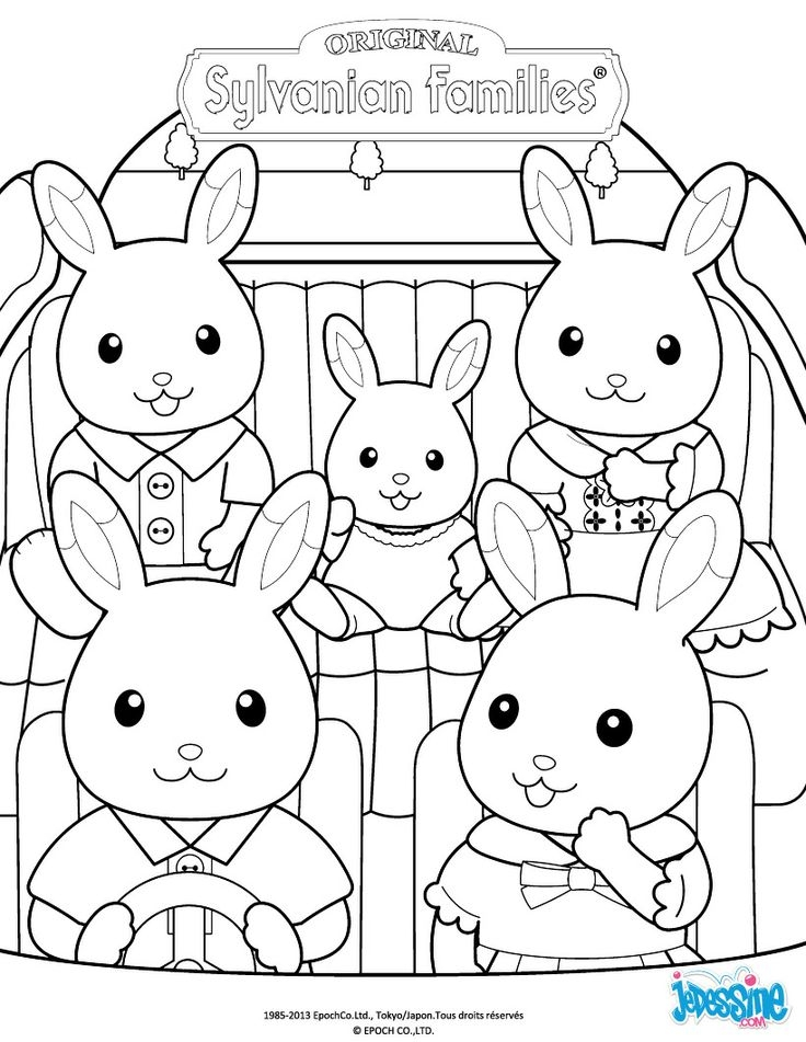 calico critters coloring pages -