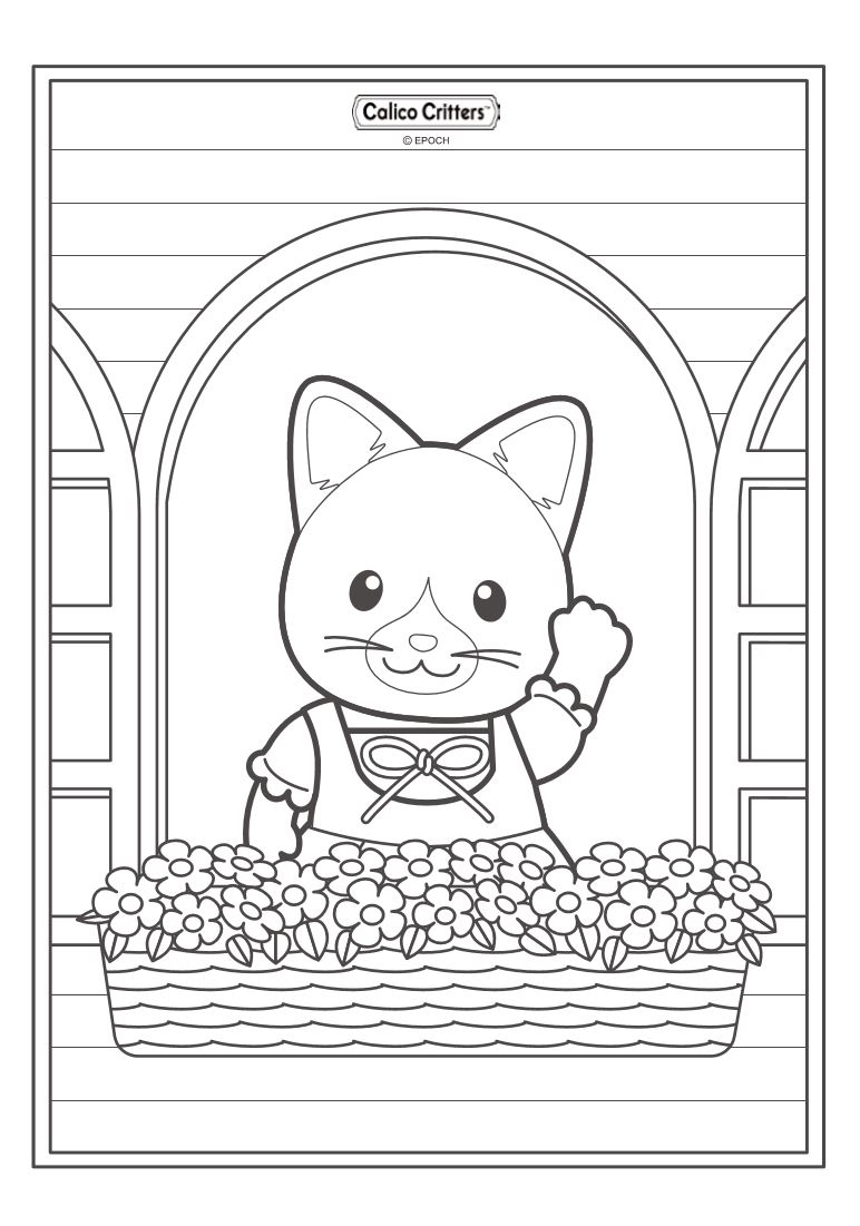 calico critters coloring pages - 663