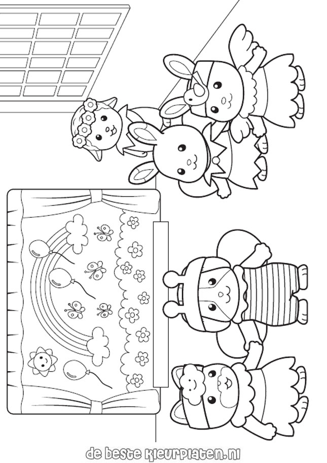 calico critters coloring pages - sylvanian families005