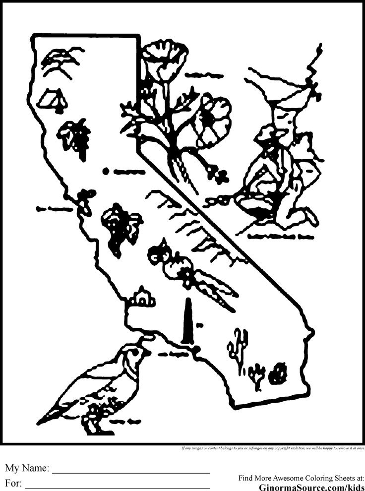 california coloring pages -
