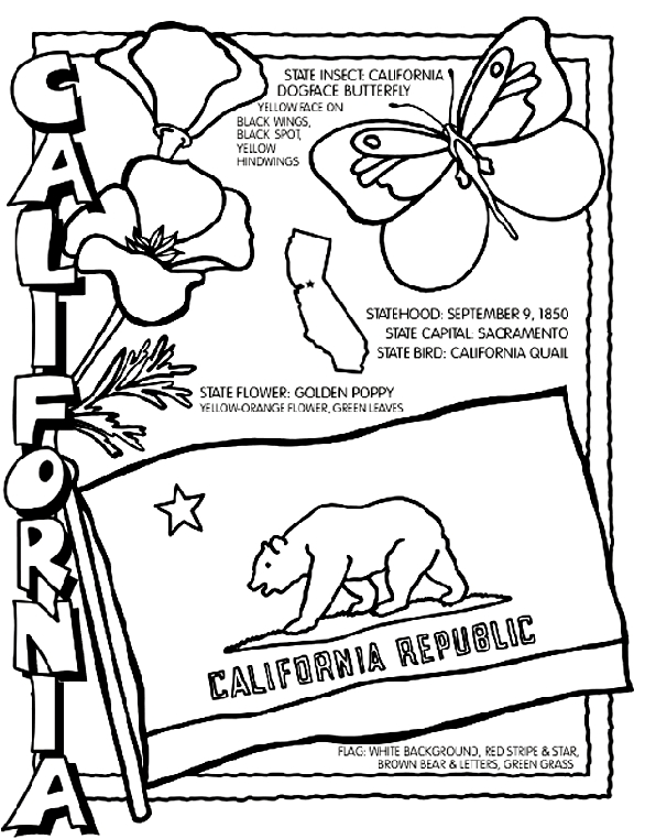 california coloring pages - california coloring page