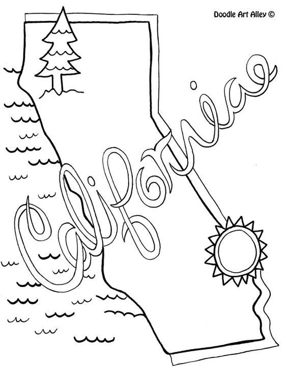california coloring pages - doodle art alley coloring pages
