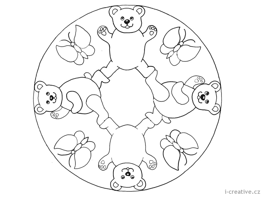 calming coloring pages - mandaly pro deti