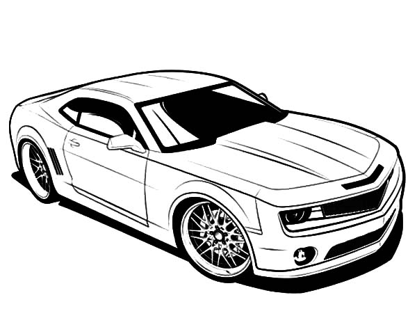 25 camaro coloring pages compilation