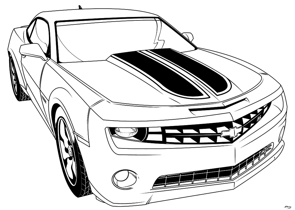camaro coloring pages - camero coloring pages