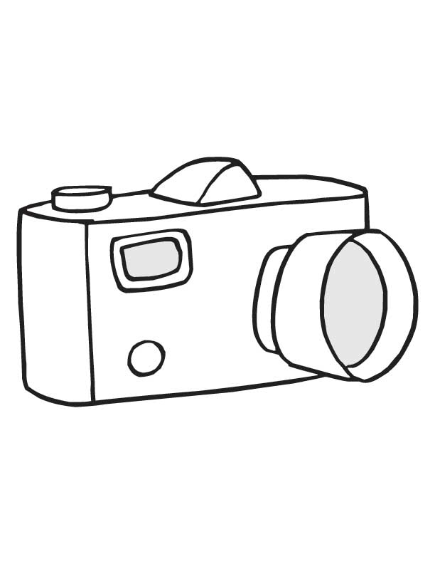 camera coloring pages - camera coloring page