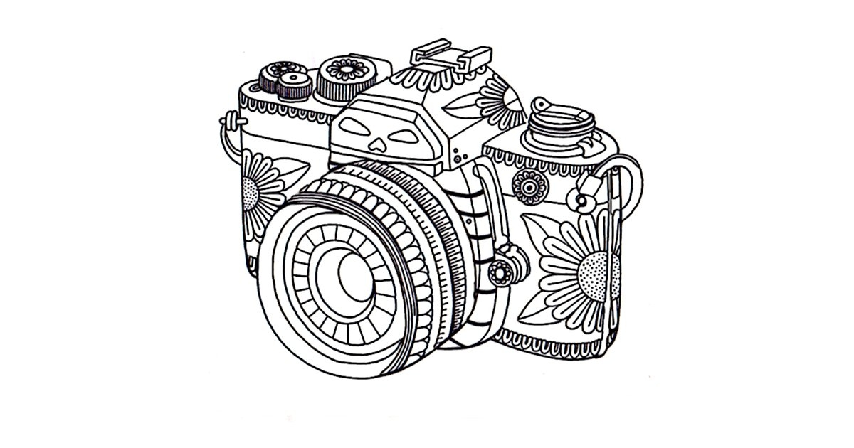 camera coloring pages - Get coloring page Camera