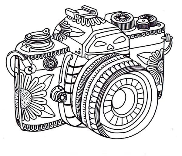 camera coloring pages -