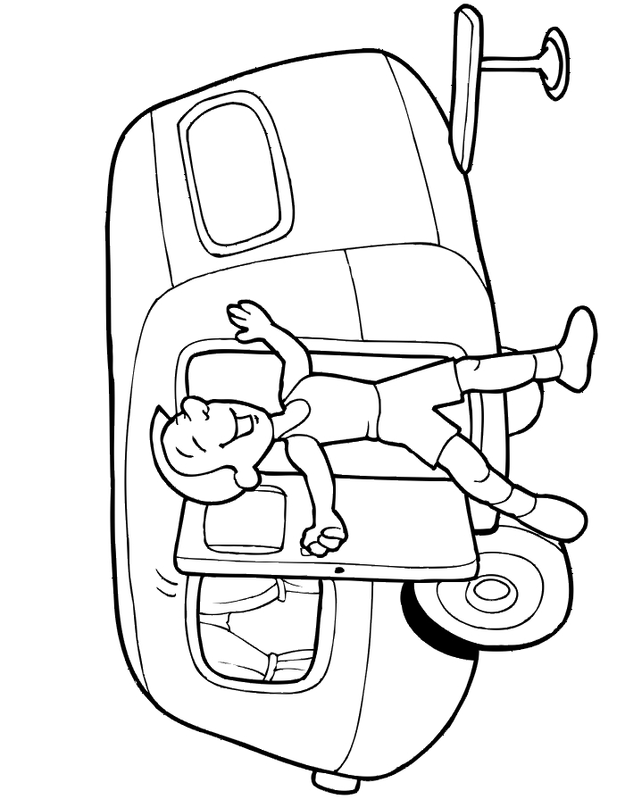 camper coloring pages - camper trailer