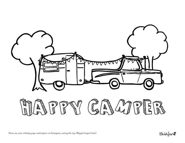 camper coloring pages -
