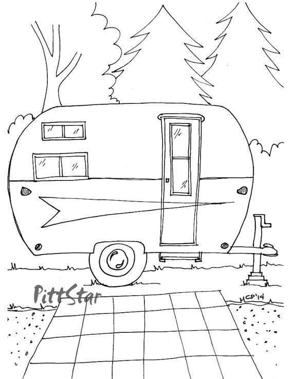 25 Camper Coloring Pages Compilation