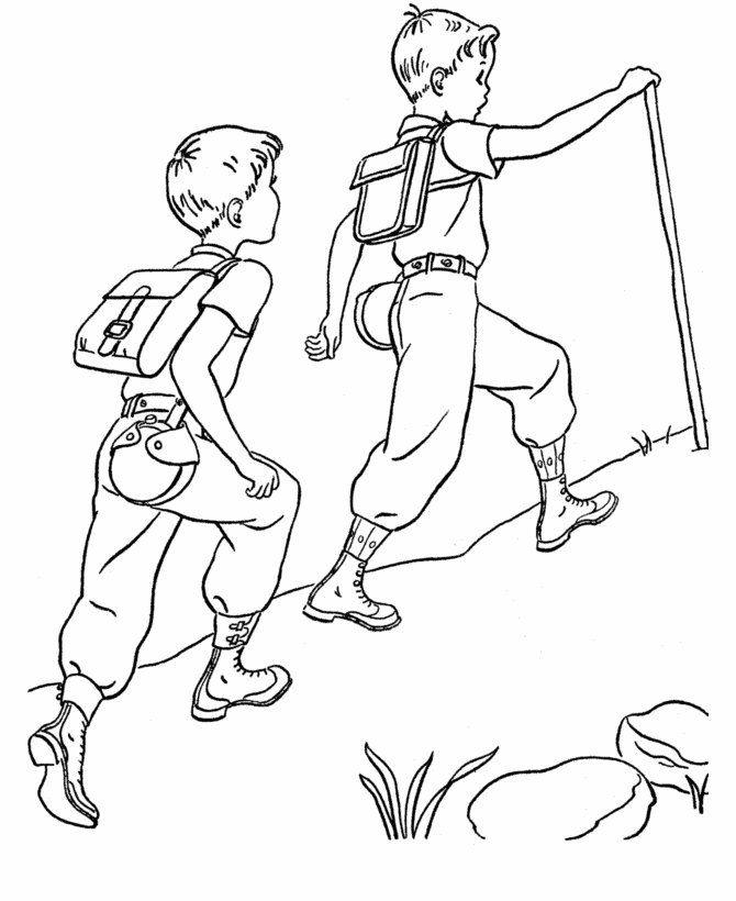 campfire coloring page - family camping08