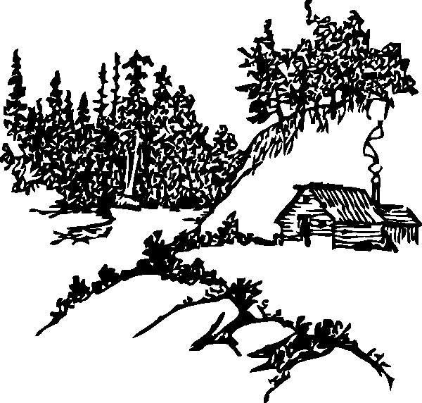campfire coloring page - cabin in the woods coloring pages