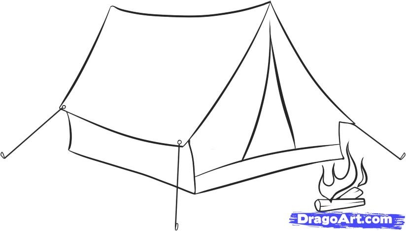 campfire coloring page - 02