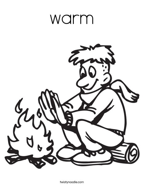 Campfire Coloring Page - Warm Coloring Page Twisty Noodle