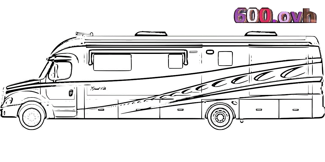 camping coloring pages - camping car coloriage