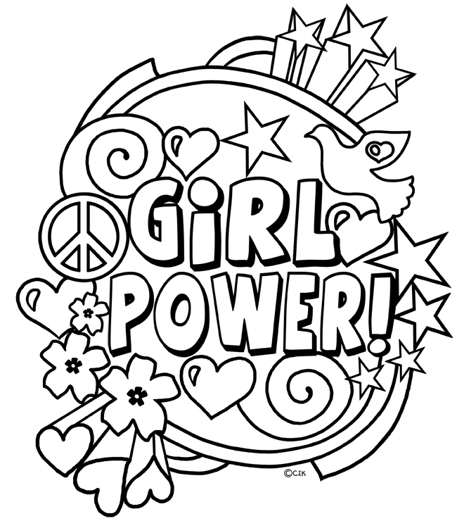 camping coloring pages - girlpower